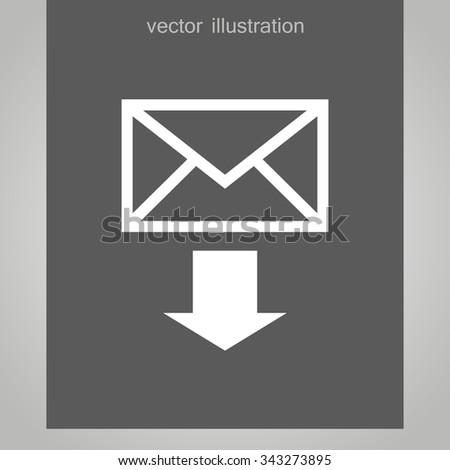 download envelope icon - stock vector