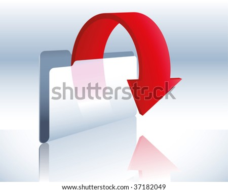 download folder - stock vector