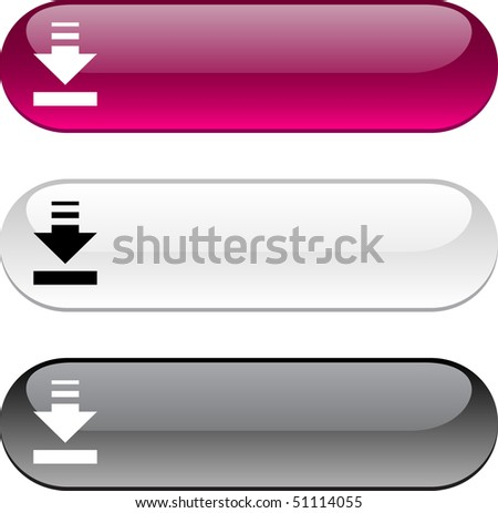 Download glossy buttons. Three color version.
