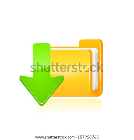 download icon vector illustration - stock vector