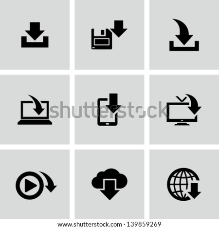 Download icons - stock vector