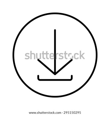 Download, linear icon. One of a set of linear web icons - stock vector