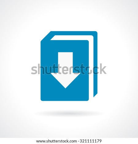 Download our catalogue icon on white background - stock vector