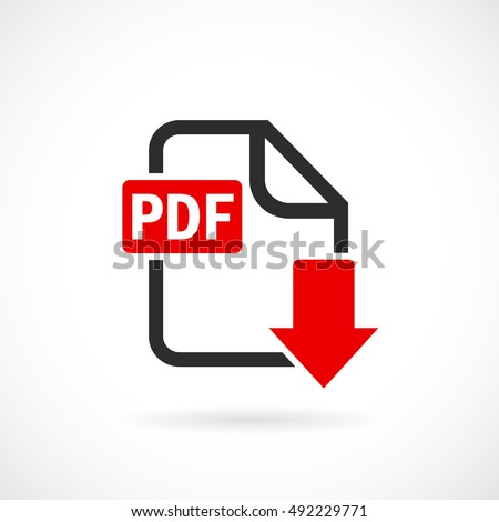 download pdf file icon vector illustration stock vector royalty