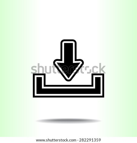 Download sign icon, vector illustration. Flat design style  - stock vector