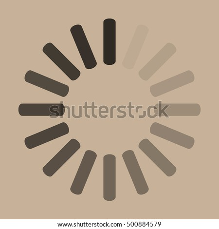 Download sign on beige background. Load icon. Data loading bar. Vector stock illustration