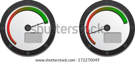 Downloads Speedometer With Two Emblems For Slow And Fast Connection - stock vector