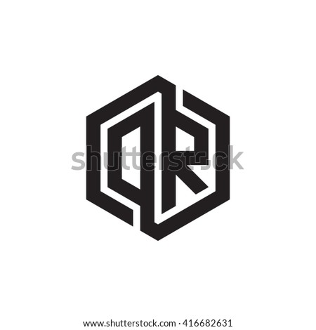 Dr initial letters loop linked hexagon stock vector 416682631 dr initial letters loop linked hexagon monogram logo altavistaventures Image collections