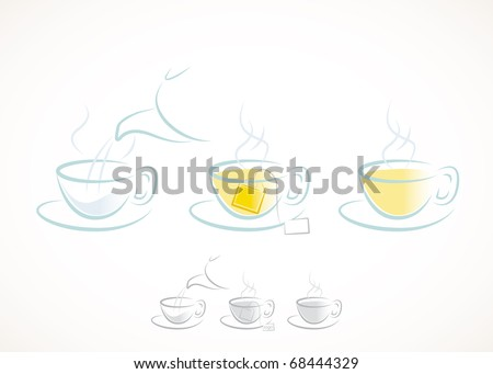 Draft for making tea. - stock vector