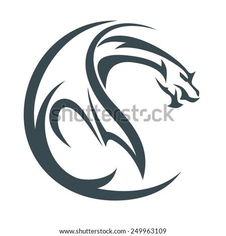 dragon abstract - stock vector