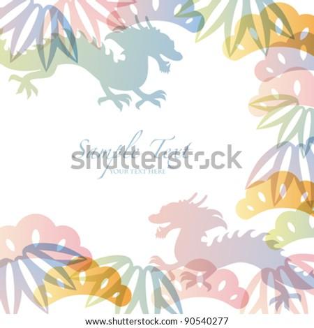dragon background - stock vector