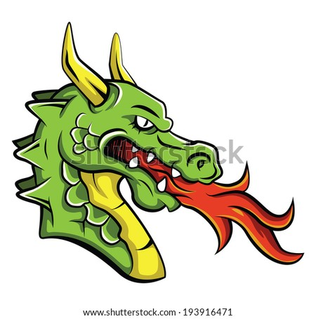 Animated dragon head - photo#4