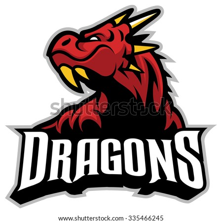 Dragon head mascot - stock vector