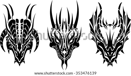 Dragon Head Vector Stock Images Royalty Free Images