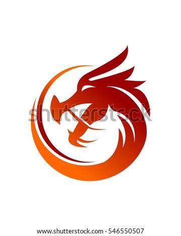 dragon logo vector stock vector royalty free 546550507 shutterstock