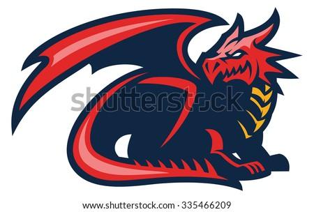 dragon mascot - stock vector