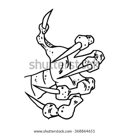 Dragon Monster Paw Claws Wild Tattoo Stock Photo Photo Vector