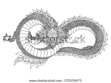 Attacking snake vector illustration old tattoo stock vector dragon sign symbol logo infinity shape hand drawn vector illustration design ccuart Images