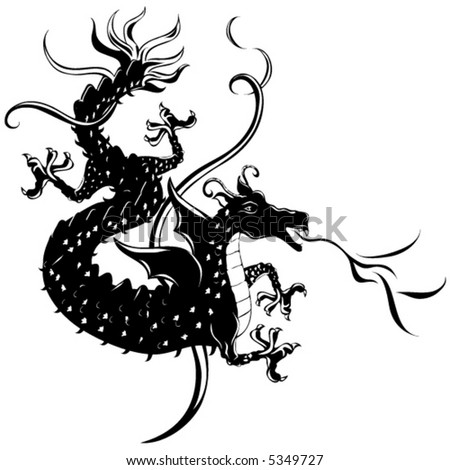 Dragon Vector. - stock vector