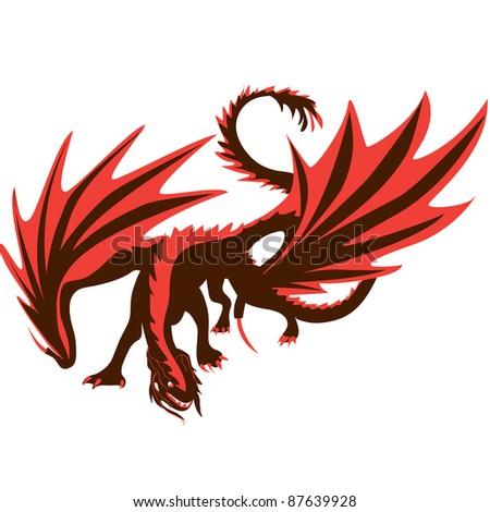 Dragon vector illustration - stock vector