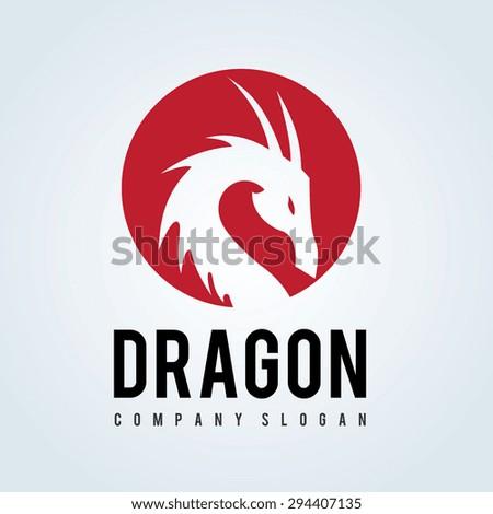 Dragon Vector Logo Design Template - stock vector
