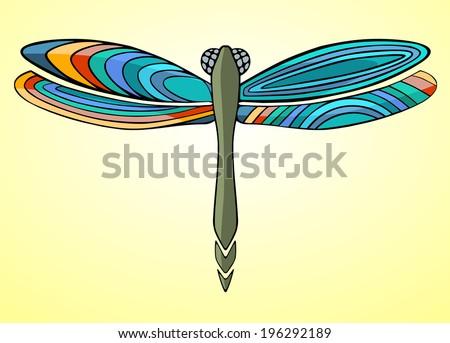 dragonfly. Vector version - stock vector