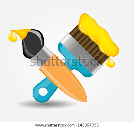 Drawing and Writing tools icon vector illustration - stock vector