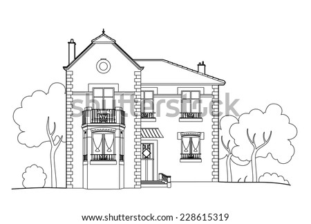 S edel 39 s portfolio on shutterstock for Exterior house drawing