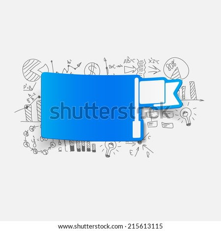 Drawing business formulas: flag - stock vector