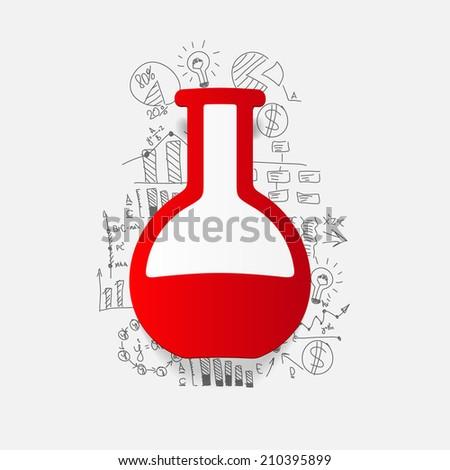 Drawing business formulas: tube - stock vector
