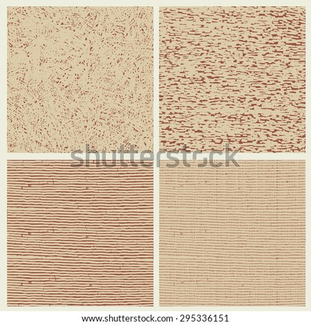 Drawing halftone textures set. vector illustration. - stock vector