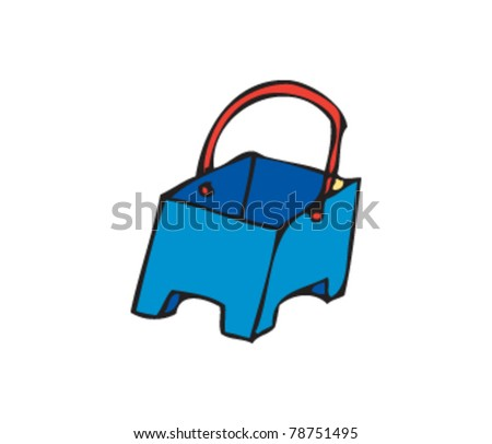 drawing of a bucket - stock vector