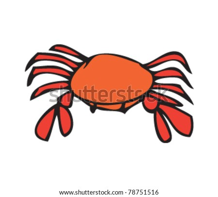 drawing of a crab - stock vector