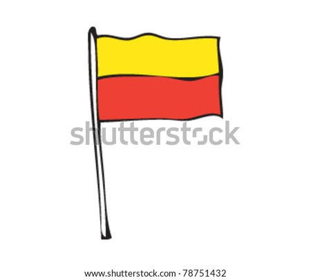 drawing of a flag - stock vector