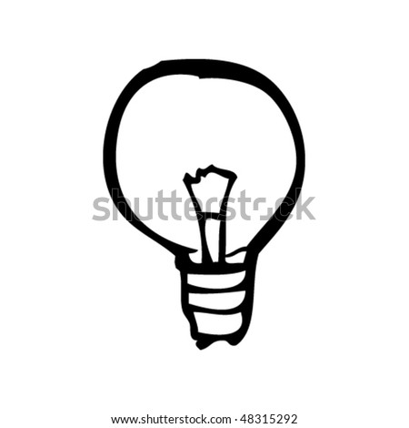 drawing of a light bulb - stock vector