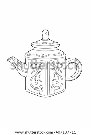 Drawing of a teapot