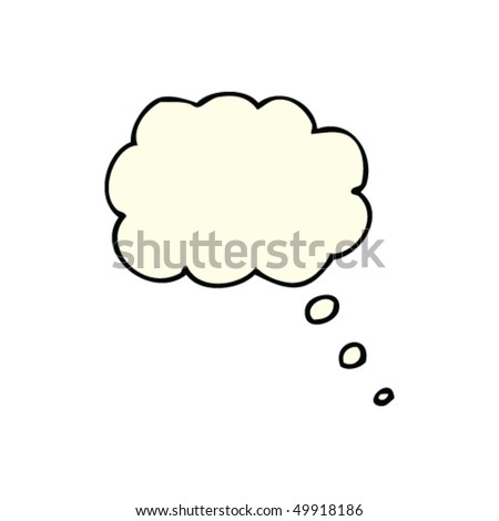 drawing of a thought bubble - stock vector