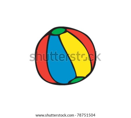 drawing of an beachball - stock vector