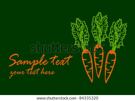 Drawing of carrot - stock vector