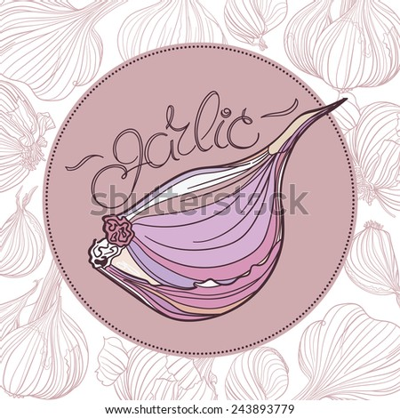 Clove Drawing Drawing of Garlic Clove in