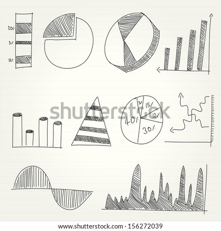 Drawing of graph - stock vector
