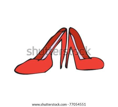 shoes heels drawing. drawing of high heel shoes heels