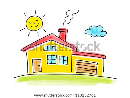 House Drawing Stock Photos, oyalty-Free Images & Vectors ... - ^