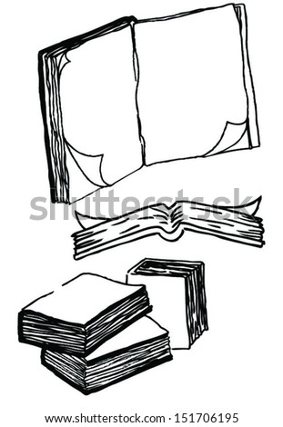 drawing of simple books school