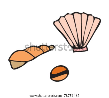 drawing of some shells - stock vector