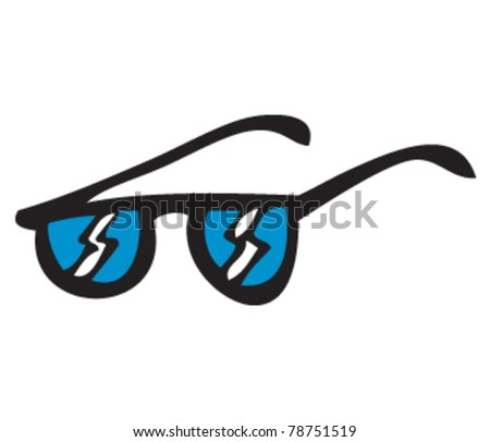 drawing of some sunglasses - stock vector