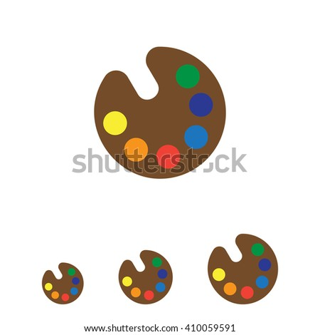 Drawing palette icon - stock vector