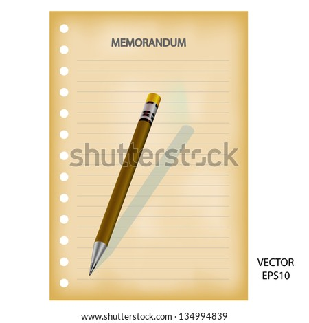 Drawing & sketching by color pencil, business concept, vector - stock vector