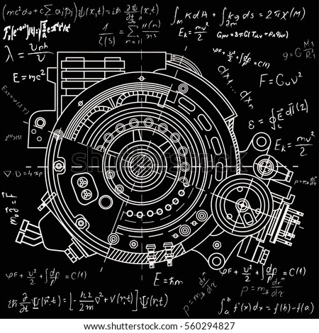 Drawing electric motor section representing internal stock vector drawing the electric motor section representing the internal structure and mechanisms it can be used malvernweather Choice Image