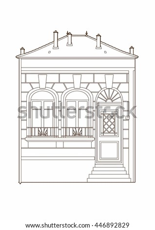 Drawing vintage house